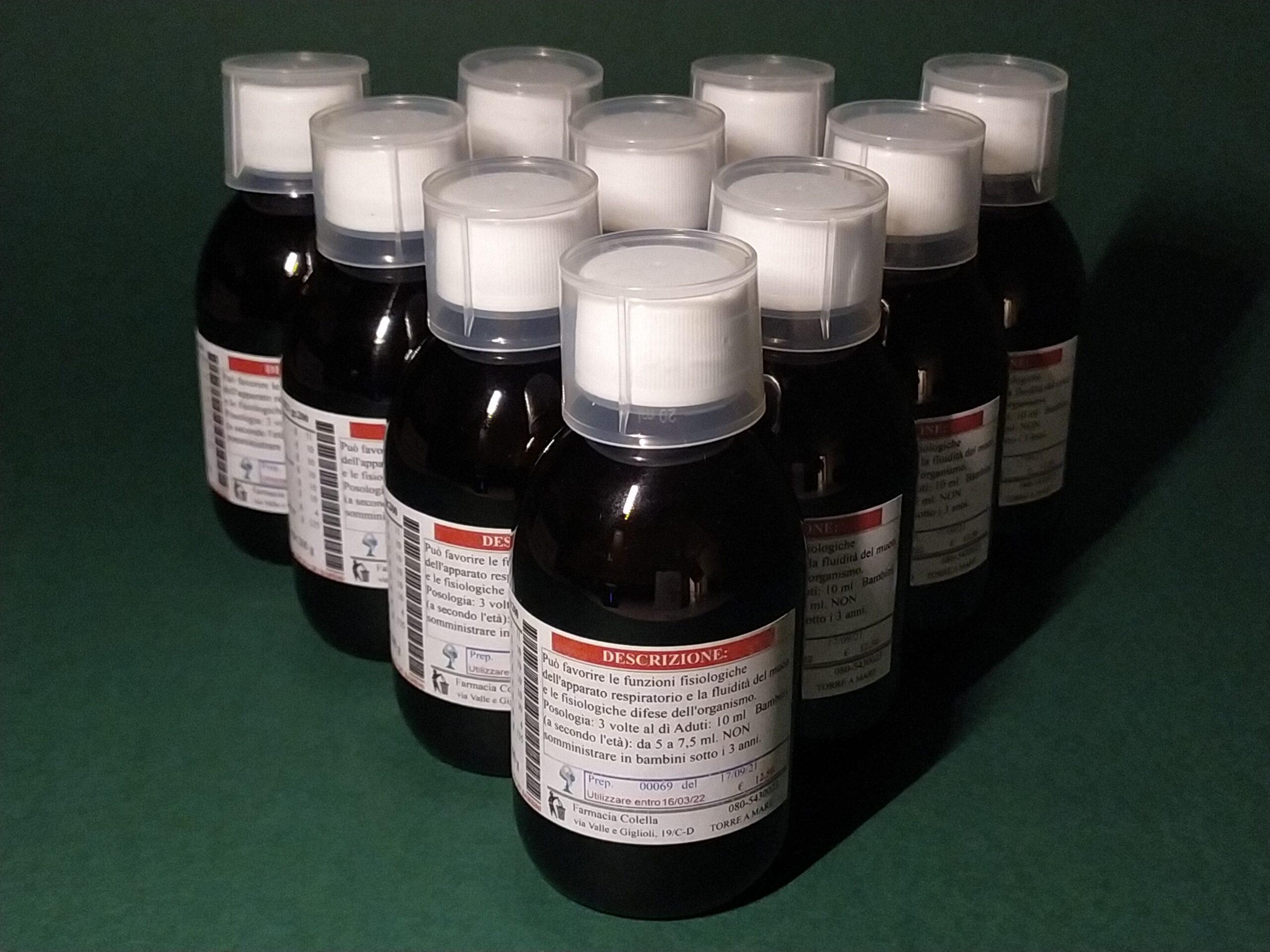 Sciroppo contro tosse Kg. 3.000